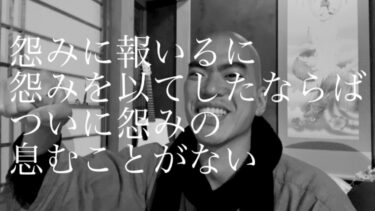 【ダンマパダ3〜5】怨みに報いるに怨みを以てしたならば、ついに怨みの息むことがない(動画26分)