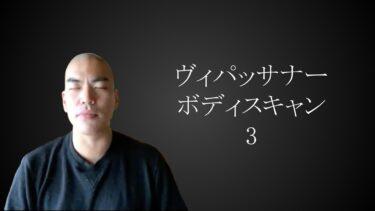 ヴィパッサナー瞑想【入門編⑤】ボディスキャン瞑想その3(難易度★★★)